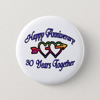 30 Years Together 6 Cm Round Badge