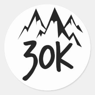 30K Run Round Sticker