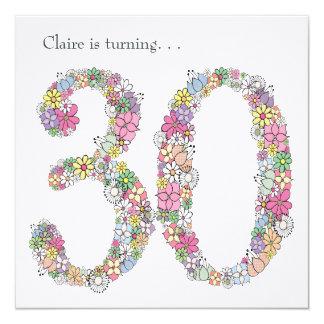 30th 30 Ladies Birthday Party Custom Invitation