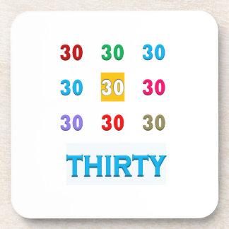 30th 30 Thirtieth Birthday Anniversary GIFTS UNIQU Coasters