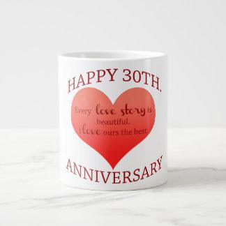 30th. Anniversary Large Coffee Mug