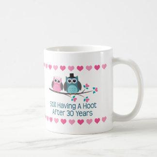 30th Anniversary Owl Couple Mug