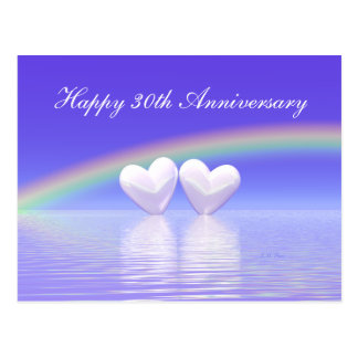 30th Anniversary Pearl Hearts Postcard