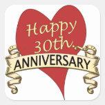 30th. Anniversary Square Sticker