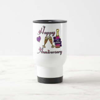 30th. Anniversary Travel Mug
