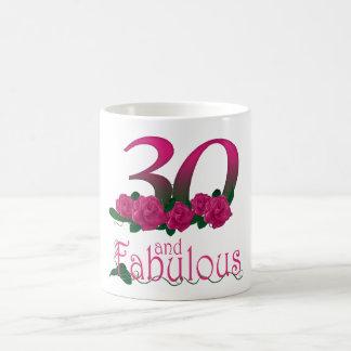 30th birthday 30 pink rose flower mug
