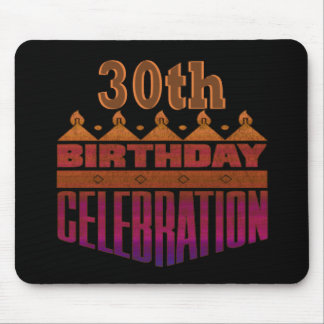 30th Birthday Celebration Gifts Mouse Pads