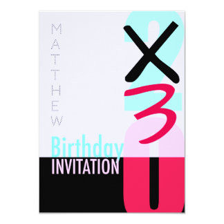 30th Birthday Celebration POP Invitation