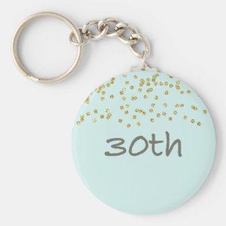 30th Birthday Confetti Key Ring