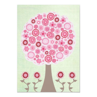 30th Birthday Designer Pink Tree Invitation