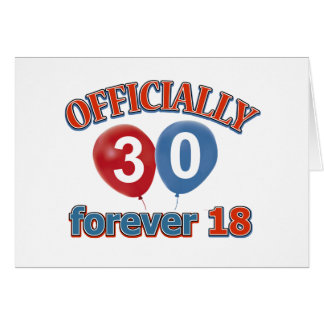 30th birthday designs card