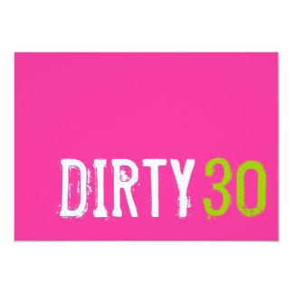 30th Birthday - Dirty 30 Invitation