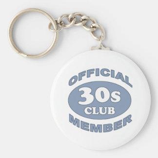 30th Birthday Gag Gifts Basic Round Button Key Ring