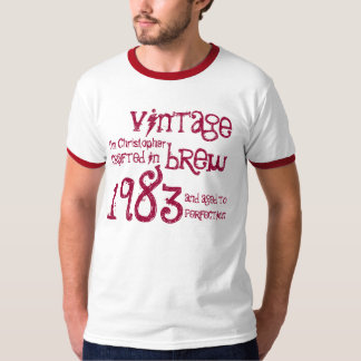30th Birthday Gift 1983 Vintage Brew Name For Him T-Shirt