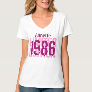 30th Birthday Gift 1986 Limited Edition V65F T-Shirt