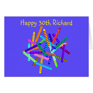 30th Birthday Gifts Card