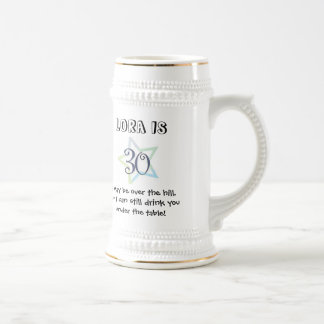 30th Birthday Mug- Customized Beer Stein