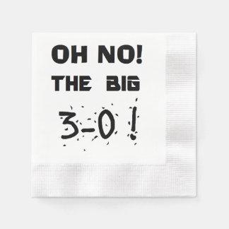 """30th Birthday"" Napkins Paper Napkins"