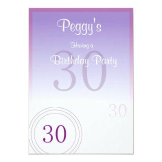 30th Birthday Numbers 13 Cm X 18 Cm Invitation Card