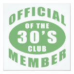 30th Birthday Official Member Personalized Invite