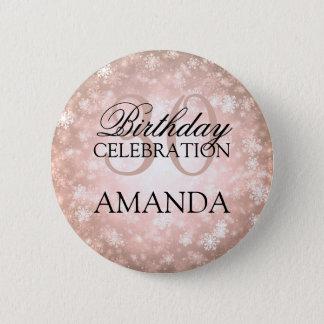 30th Birthday Party Copper Winter Wonderland 6 Cm Round Badge