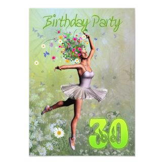 "30th Birthday party invitation 5"" X 7"" Invitation Card"