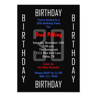 30th Birthday Party Invitation 30