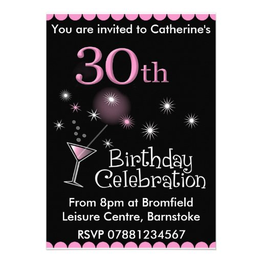 30Th Birthday Invitations For Her for your inspiration to make invitation template look beautiful