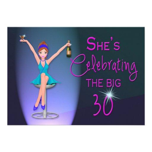 30th Birthday Party Invitation -  Flirty and Sassy