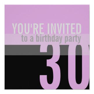 30th Birthday Party Invitations {Purple}
