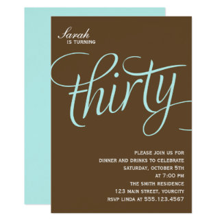 30th Birthday Party Invites