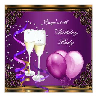 Purple 50th Birthday Invitations 4 000 Purple 50th
