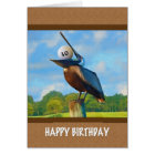 30th Birthday, Pelican with Golf Ball Card