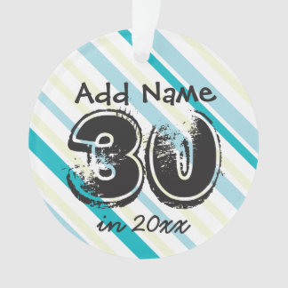 30th Birthday Personalized Ornament