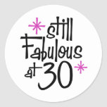 30th Birthday Round Sticker