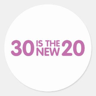 30th Birthday Round Sticker