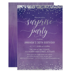 Surprise 30th birthday invitations zazzle 30th birthday surprise party invitation elegant filmwisefo