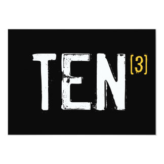 30th Birthday - Ten x 3 Invitation