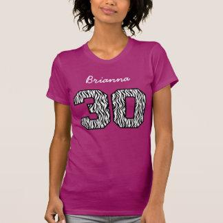 30th Birthday Zebra Custom Name V064 T-Shirt