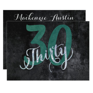 30th Green | Custom Birthday Anniversary Party | Card