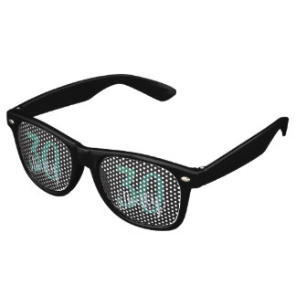 30th Green   Custom Birthday Anniversary Party   Retro Sunglasses