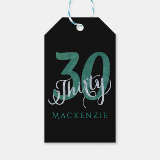 30th Green | Custom Birthday Thank You Party Favor Gift Tags