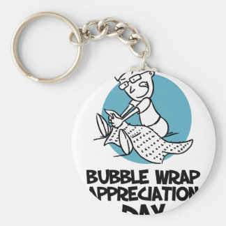30th January - Bubble Wrap Appreciation Day Basic Round Button Key Ring