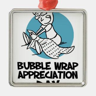 30th January - Bubble Wrap Appreciation Day Metal Ornament