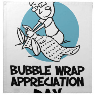 30th January - Bubble Wrap Appreciation Day Napkin
