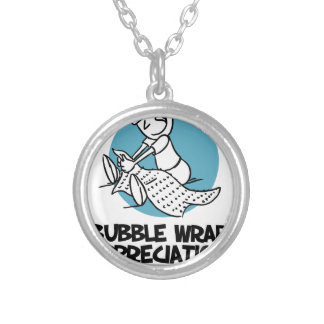 30th January - Bubble Wrap Appreciation Day Silver Plated Necklace