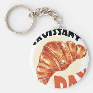 30th January - Croissant Day Key Ring