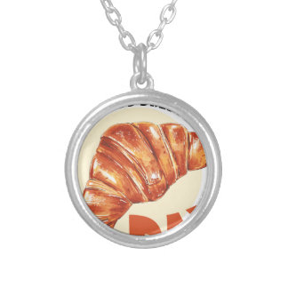 30th January - Croissant Day Silver Plated Necklace