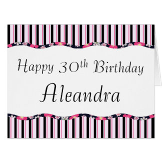30th or Any Age Birthday-BIG Card