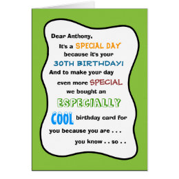 Funny 16th birthday cards invitations zazzle 30th or any age funny birthday greeting card bookmarktalkfo Choice Image